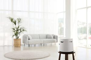 Carepod humidifier in a family living room