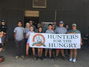 Volunteers for Hunters For The Hungry's Clean Out Your Freezer Day
