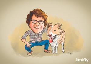 Kickstarter campaign perk: a hand-painted portrait of you and your pet.