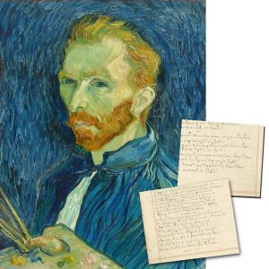 Paper fragment inscribed on both sides with about 115 full and partial words in the hand of Dutch artist Vincent Van Gogh (estimate: $40,000-$50,000).