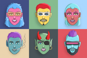 This is a preview of the NextGems Avatar artwork. Six randomly selected examples to show what traits are to be expected.