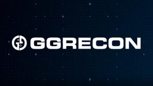 GG Recon Logo on Dark Blue Tech Background