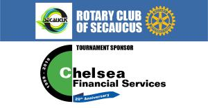 Combined image of Secaucus Logo and Secaucus Rotary Club Logo and Chelsea Financial Services Logo