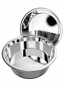 2 stainless steel dog bowls from Mighty Paw