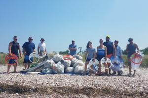 The Clean Earth Project beach cleanup event