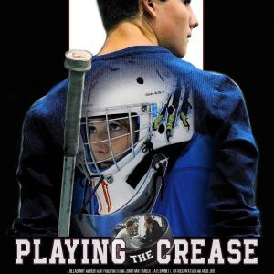 Playing The Crease Movie Poster Hockey Player