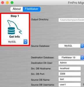 FmPro Migrator Step #1 - MySQL to FileMaker Conversion