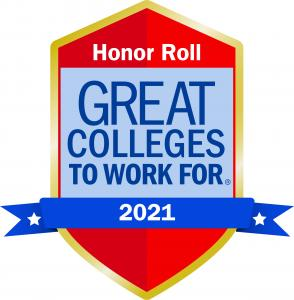 2021 Great College to Work For Honor Roll logo