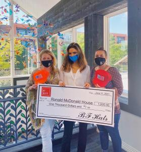 Bryn Carden, Co-Founder of BF Hats, Donates to the Ronald McDonald House of Dallas