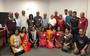 Board members, faculty and community members at the launch event of Hindu Community Institute in 2018