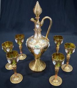 Seven-piece set of Moser wine glasses (estimate: $500-$1,500).
