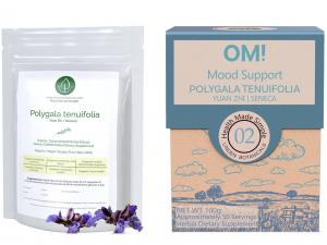 Polygala tenuifolia and OM! Mood Support sold by Linden Botanicals