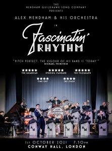 Fascinatin Rhythm Premiere Poster by Mendham Guildhawk Song Company with image of Art Deco Jazz Orchestra