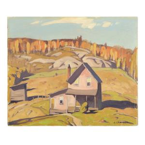 Oil on board landscape painting by Group of Seven artist Alfred Joseph Casson (Canadian, 1898-1992), titled Outside Algonquin Park (estimate: CA$30,000-$40,000).