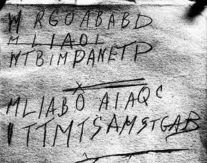 The Somerton Man Code on the Back of His Copy of Edward FitzGerald's 1st Edition of Omar Khayyam's Rubaiyat