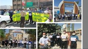 September 26, 2021 - (NCRI) and (PMOI / MEK Iran): The government's response to the teachers' demonstrations has been negligence, followed by oppression.
