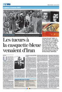 """September 27, 2021 - """"The Public Prosecutor's Office of the Canton of Vaux has also demonstrated that the elimination of Iranian opponents was being carried out in several European countries."""