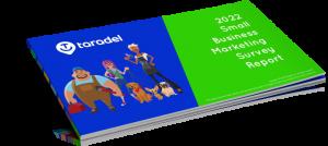 A render of Taradel's 2022 Small Business Marketing Survey