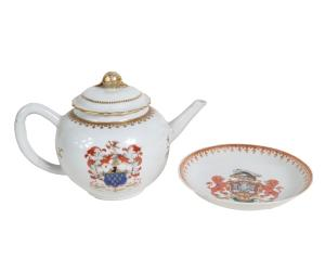 A large selection of Chinese Export armorial-decorated porcelain.