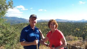 Innkeepers Sallie and Welling Clark take a hike in the Colorado high country