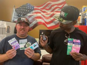 Veterans with donated hhemp.co products