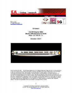Front image of Ericsson 5G NR digital baseband unit 6648