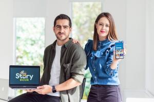 Francisco Cornejo and Daniela Vega. Founders of Storybook App
