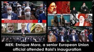 October 13, 2021 - Enrique Mora, a senior European Union official, attended Raisi's inauguration on August 5.