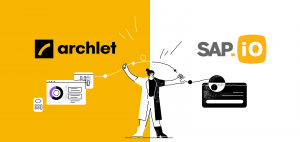 Illustration celebrating the partnership between Archlet and SAP.io