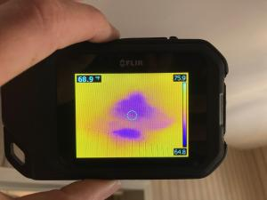 Thermal imaging is a great tool that helps to identify water damage in walls, floors, and ceilings.