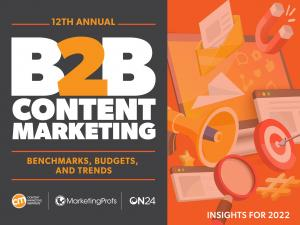 Cover of CMI's B2B Content Marketing Research 2022 report
