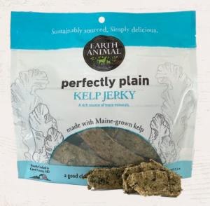 Earth Animal launches vegan dog treat with Perfectly Plain Kelp Jerky