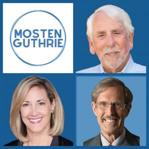 """Forrest """"Woody"""" Mosten and Susan Guthrie of Mosten Guthrie Academy welcome Bill Eddy"""