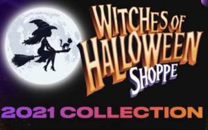 The Witches of Halloween logo, followed by the words: 2021 Collection