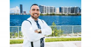 Manuel Peña smile to his success in his industry.