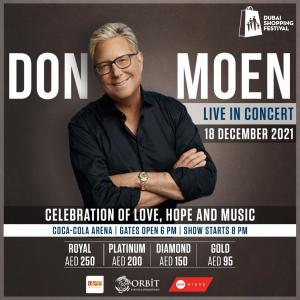 Don Moen Live in Dubai 18Dec2021 at Coca Cola Arena, Dubai