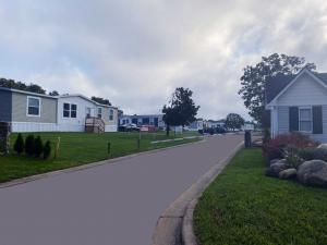 View down the street at Wildflower Crossing in Albion, Michigan