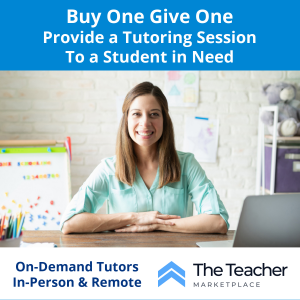 Buy a Tutoring Session for a Student in Need with The Teacher Marketplace