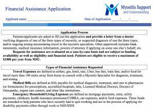 MSU Financial Assistance Program application