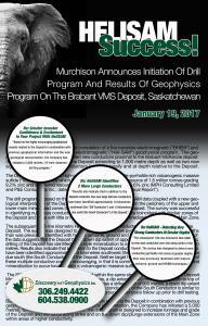VMS, Nickel Exploration, New Techniques, Copper Investigation