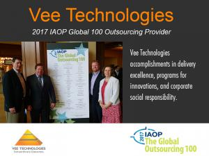 Vee Technologies A 2017 IAOP Global 100 Outsourcing Provider