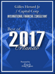 capital corp merchant banking, project financing, gilles herard, gilles herard jr, gilles herard award, gilles herard 2017