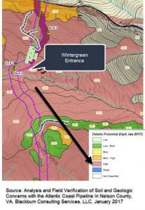 Analysis and Field Verification of Soil and Geologic Concerns with the Atlantic Coast Pipeline in Nelson County, VA