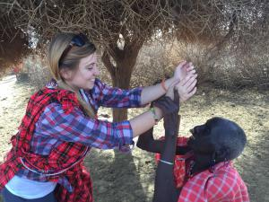 Dreamweaver volunteer Montana Bruhl in Kenya
