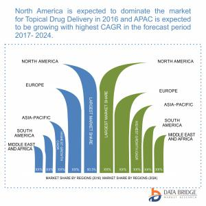Global Topical Drug Delivery Market Geographical Segmentation
