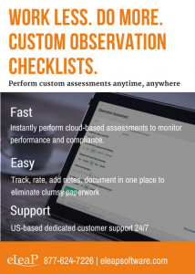Observation Checklist Assessments for easy documentation and compliance
