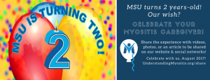 """Celebrate your Myositis Caregiver"" in recognition of MSU's second year"