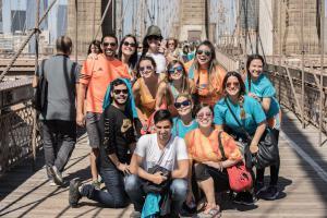 Nicole Faccio 2016 NY #LymphWalk team Brooklyn Bridge