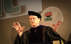 Dr. J, Davidson Frame at UMT Commencement