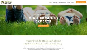 Home page for Cape Cod Mosquito Squad website designed by Menadena LLC